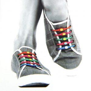 Šarene elastične pertle spajalice - bez vezivanja