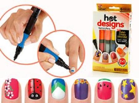 Hot Designs - Set lakova i olovaka za Nail Art