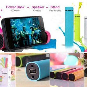 Power Jam 3u1- Zvučnik, power bank, postolje za telefon