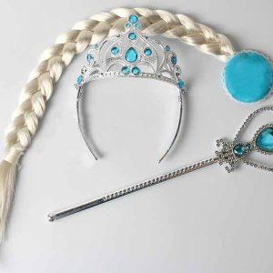 FROZEN Set za princezu - Kruna, Čarobni štapić i Pletenica