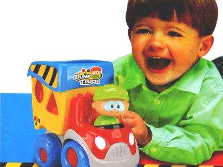 Edukativni muzički kamion - igračka za bebe - pogodi oblik_247