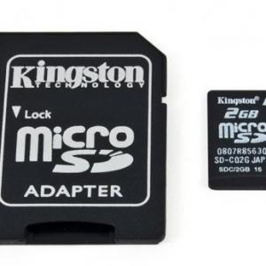 Kingston Micro SD kartica 2GB + SD adapter