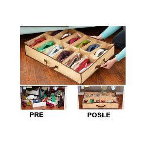Praktični prenosivi cipelarnik sa 12 pregrada (70*50)