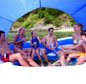 Ogroman splav - plutajuće ostrvo - bazenčić za uživanje na vodi_265