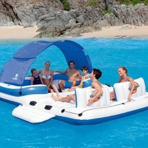 Ogroman splav - plutajuće ostrvo - bazenčić za uživanje na vodi kj1