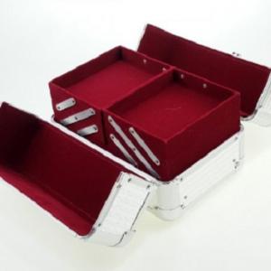 Veliki metalni kofer za šminku, nakit za pregradama_4