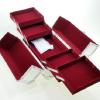 Veliki metalni kofer za šminku, nakit za pregradama_3