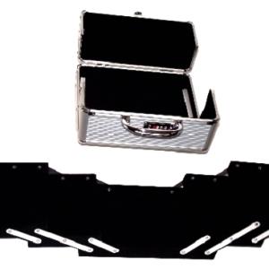 Veliki metalni kofer za šminku, nakit sa pregradama_2