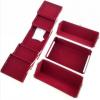 Veliki metalni kofer za šminku, nakit za pregradama_1