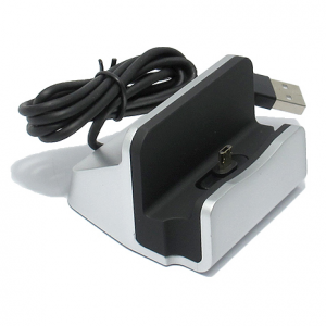 Dock micro sa USB kablom srebrni