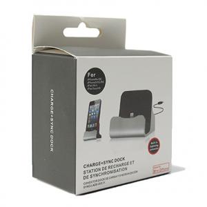 Dock za Iphone 5G 5S 6G 6S sa USB kablom crni - 2