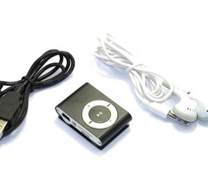 Mp3 player+USB+slusalice crna