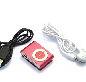 Mp3 player+USB+slusalice pink