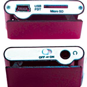 Mp3 player+USB+slusalice pink 2