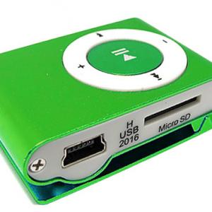 Mp3 player+USB+slusalice zeleni