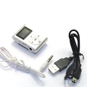Mp3 sa LCDom+USB+slusalice sivi