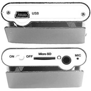 Mp3 sa LCDom+USB+slusalice sivi 2