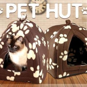 PET HUT Kucica za male pse ili macke - Braon - NOVO 3