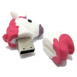 USB Flash Memorija MemoStar EMOJI 32GB unicorn bela - 2