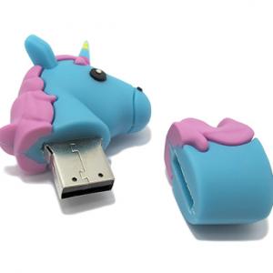 USB Flash Memorija MemoStar EMOJI unicorn tirkiz - 2
