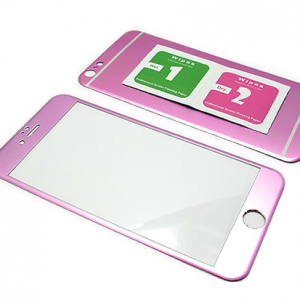 Folija za zastitu ekrana GLASS ALUMINIUM za Iphone 6 PLUS 2u1 pink