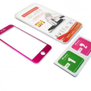 Folija za zastitu ekrana GLASS ALUMINIUM za Iphone 6 PLUS pink 2