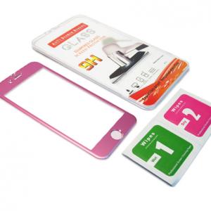 Folija za zastitu ekrana GLASS ALUMINIUM za Iphone 6G-6S pink 2