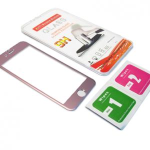 Folija za zastitu ekrana GLASS ALUMINIUM za Iphone 6G-6S roze 2