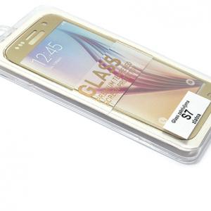 Folija za zastitu ekrana GLASS za Samsung G930 Galaxy S7 zakrivljena zlatna 2