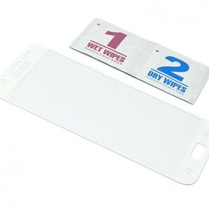 Folija za zastitu ekrana GLASS za Samsung G935 Galaxy S7 Edge zakrivljena bela