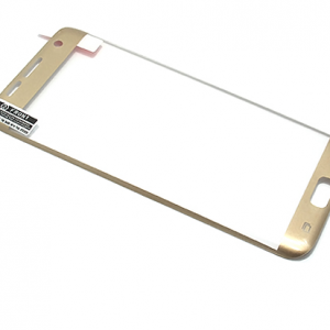 Folija za zastitu ekrana GLASS za Samsung G935 Galaxy S7 Edge zakrivljena zlatna sa sljokicama