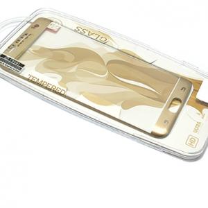 Folija za zastitu ekrana GLASS za Samsung G935 Galaxy S7 Edge zakrivljena zlatna sa sljokicama 2