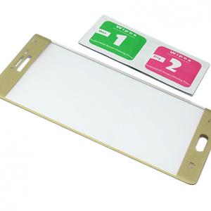 Folija za zastitu ekrana GLASS za Samsung N915S Galaxy Note Edge zakrivljena sa sljokicama zlatna