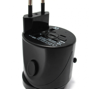 Univerzalni Travel Adapter EU USA UK AUS crni 2