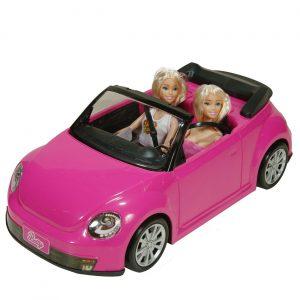 2 barbike u kabrioletu