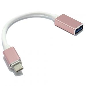 Adapter OTG Type C USB roze