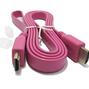 HDMI kabal na HDMI 1.5m FLAT pink 2