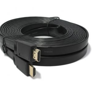 HDMI kabal na HDMI 10m FLAT crni