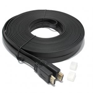 HDMI kabal na HDMI 15m FLAT crni