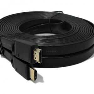 HDMI kabal na HDMI 20m FLAT crni