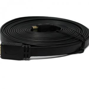 HDMI kabal na HDMI 5m FLAT crni