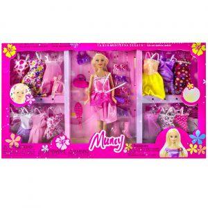 Lutka sa haljinama i raznim dodacima
