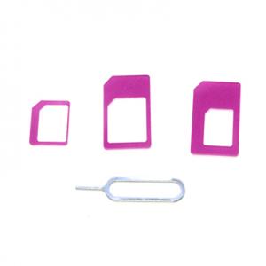 Micro-nano SIM adapter 3in1 purple 2