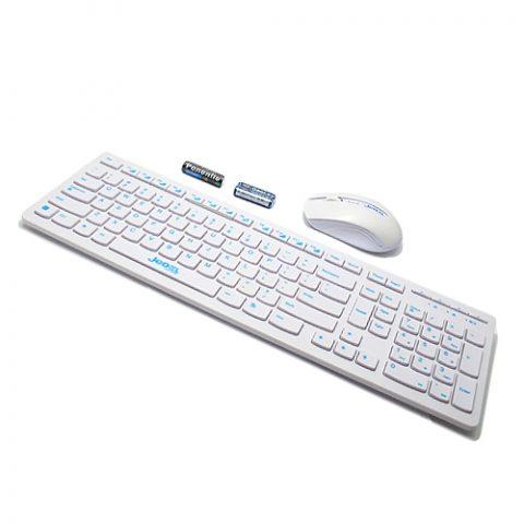 Tastatura bezicna+mis JEDEL WS3000 bela