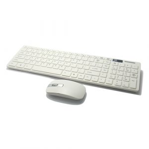 Tastatura+mis COMBO beli bezicni sa zastitom