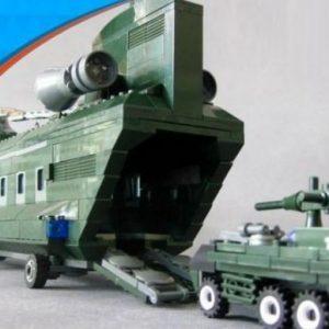 Veliki LEGO Vojni helikopter transporter 3