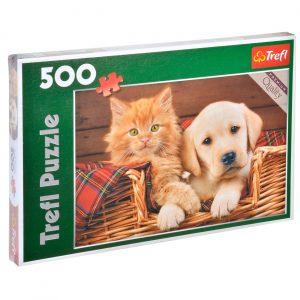 500 puzli - Pas i mačka