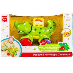 Edukativna igračka - Krokodil na točkovima sa zvukom