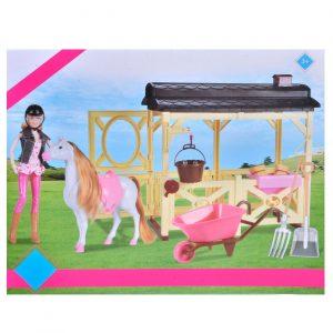 Lutka Beuty sa konjem i štalom - Mannequin