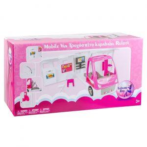 Roze karavan za lutke